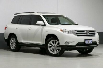 2012 Toyota Kluger GSU40R MY12 Altitude (FWD) 7 Seat White 5 Speed Automatic Wagon Bentley Canning Area Preview