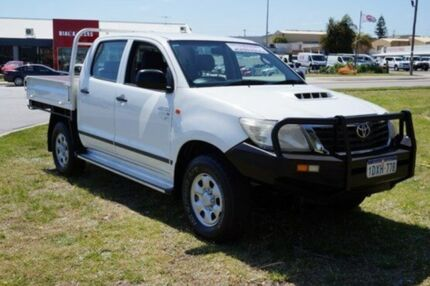 2012 Toyota Hilux KUN26R MY12 SR Double Cab White 5 Speed Manual Cab Chassis Pearsall Wanneroo Area Preview