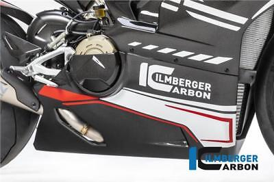Ilmberger RACING Gloss Carbon Bellypan For Akrapovic Ducati Panigale V4 2018