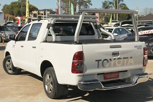 2012 Toyota Hilux GGN15R MY12 SR5 Glacier White 5 Speed Automatic Dual Cab Pick-up Old Guildford Fairfield Area Preview