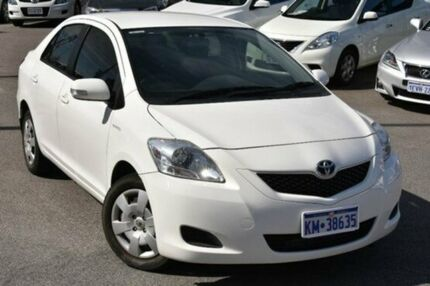 2008 Toyota Yaris NCP93R MY09 YRS White 4 Speed Automatic Sedan Myaree Melville Area Preview