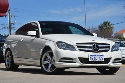2012 Mercedes-Benz C250 CDI C204 BlueEFFICIENCY 7G-Tronic White 7 Speed Sports Automatic Coupe