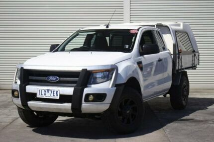 2012 Ford Ranger PX XL Super Cab White 6 Speed Manual Cab Chassis