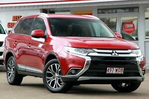 2015 Mitsubishi Outlander ZK MY16 LS 4WD Red 6 Speed Constant Variable Wagon Woolloongabba Brisbane South West Preview