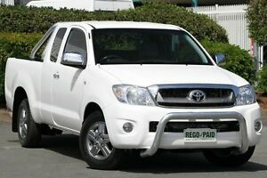 2010 Toyota Hilux GGN15R MY10 SR5 Xtra Cab Glacier White 5 Speed Automatic Utility Acacia Ridge Brisbane South West Preview