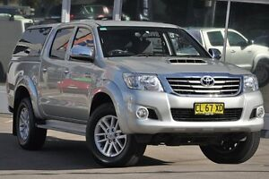 2012 Toyota Hilux KUN26R MY12 SR5 (4x4) Silver 4 Speed Automatic Dual Cab Pick-up Dee Why Manly Area Preview
