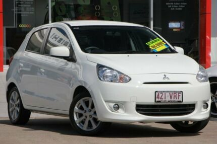 2015 Mitsubishi Mirage LA MY15 LS White 1 Speed Constant Variable Hatchback Kippa-ring Redcliffe Area Preview