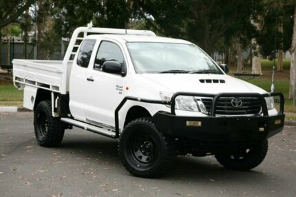 2013 Toyota Hilux KUN26R MY14 SR Xtra Cab White 5 Speed Manual Utility Slacks Creek Logan Area Preview