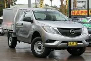 2017 Mazda BT-50 UR0YG1 XT Freestyle 4x2 Hi-Rider Silver 6 Speed Sports Automatic Cab Chassis Haberfield Ashfield Area Preview