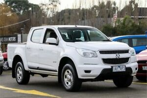 2013 Holden Colorado RG MY14 LX Crew Cab White 6 Speed Sports Automatic Utility Ringwood East Maroondah Area Preview