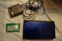 Navy Blue DS lite excellent shape & Pokemon Emerald & White 2