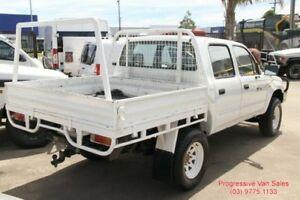 2004 Toyota Hilux 4x4 Turbo Diesel White 5 Speed Manual Dual Cab