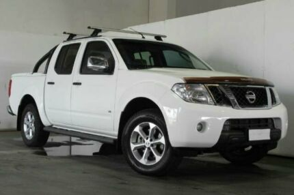 2011 Nissan Navara D40 MY11 ST-X 550 White Semi Auto Utility Underwood Logan Area Preview