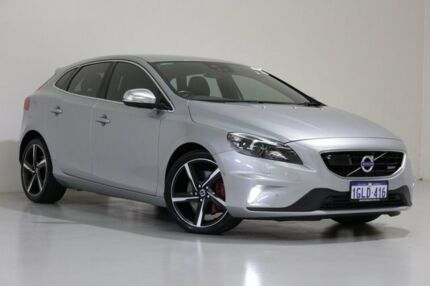 2014 Volvo V40 M MY14 T5 R-Design Silver 6 Speed Automatic Hatchback St James Victoria Park Area Preview