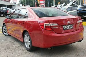 2012 Toyota Camry ASV50R Atara S Red 6 Speed Automatic Sedan Wolli Creek Rockdale Area Preview