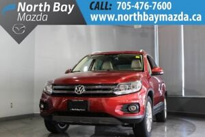 2015 Volkswagen Tiguan with AWD, Heated Seats, Pano Sunroof, Blu