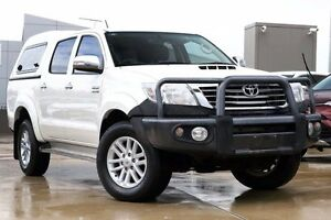 2013 Toyota Hilux KUN26R MY12 SR5 Double Cab White 5 Speed Manual Utility Blacktown Blacktown Area Preview