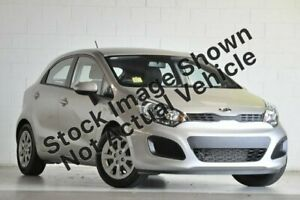 2012 Kia Rio UB MY12 S Silver 6 Speed Manual Hatchback Glendale Lake Macquarie Area Preview