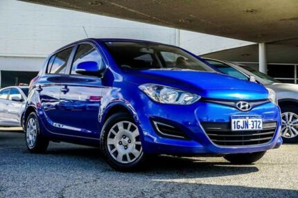 2013 Hyundai i20 PB MY14 Active Blue 4 Speed Automatic Hatchback Osborne Park Stirling Area Preview