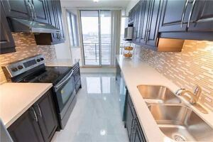 Fully Renovated 2 B/R + Den , 2 Full W/R Condo Close To Sheridan