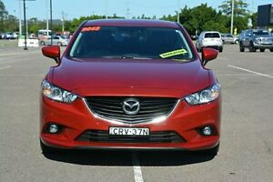 2013 Mazda 6 GJ1021 Touring SKYACTIV-Drive Maroon 6 Speed Sports Automatic Sedan Broadmeadow Newcastle Area Preview