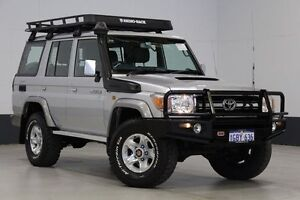 2010 Toyota Landcruiser VDJ76R 09 Upgrade GXL (4x4) Silver 5 Speed Manual Wagon Bentley Canning Area Preview