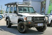 2011 Toyota Landcruiser VDJ76R MY10 Workmate White 5 Speed Manual Wagon Myaree Melville Area Preview