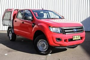 2012 Ford Ranger PX XL Double Cab Red 6 Speed Sports Automatic Cab Chassis Kings Park Blacktown Area Preview