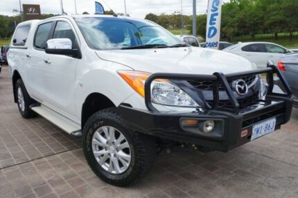 2012 Mazda BT-50 UP0YF1 XTR White 6 Speed Sports Automatic Utility Pearce Woden Valley Preview