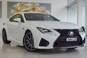 2015 Lexus RC USC10R RC F White 8 Speed Sports Automatic Coupe Artarmon Willoughby Area Preview