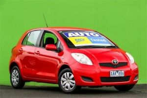 2009 Toyota Yaris NCP90R MY10 YR Red 4 Speed Automatic Hatchback Ringwood East Maroondah Area Preview
