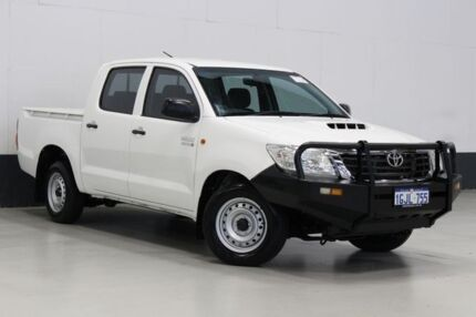 2013 Toyota Hilux KUN16R MY12 SR White 5 Speed Manual Dual Cab Pick-up