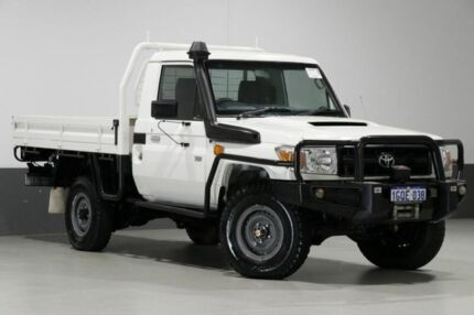 2014 Toyota Landcruiser VDJ79R MY12 Update Workmate (4x4) White 5 Speed Manual Cab Chassis Bentley Canning Area Preview