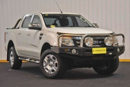 2014 Ford Ranger PX XLT Double Cab White 6 Speed Manual Utility
