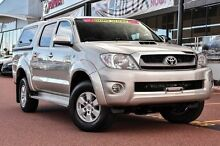 2010 Toyota Hilux KUN26R MY10 SR5 Sterling Silver 4 Speed Automatic Utility Wangara Wanneroo Area Preview