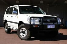 2005 Toyota Landcruiser HDJ100R GXL White 5 Speed Manual Wagon Northbridge Perth City Preview