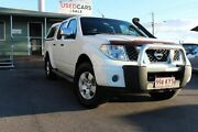 2008 Nissan Navara D40 ST-X White 6 Speed Manual Utility Wakerley Brisbane South East Preview