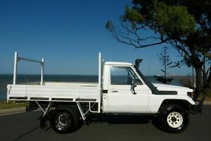 1990 Toyota Landcruiser HZJ75RP (4x4) White 5 Speed Manual Cab Chassis South Gladstone Gladstone City Preview