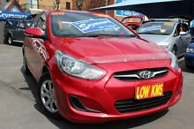2012 Hyundai Accent RB Active Red 5 Speed Manual Hatchback Hamilton Newcastle Area Preview