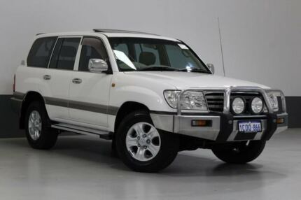 2007 Toyota Landcruiser UZJ100R VX (4x4) White 5 Speed Automatic Wagon