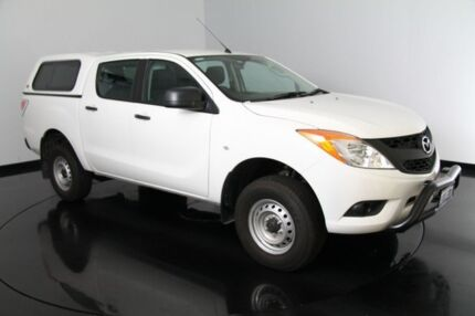 2014 Mazda BT-50 UP0YF1 XT 4x2 Hi-Rider White 6 Speed Manual Cab Chassis Victoria Park Victoria Park Area Preview