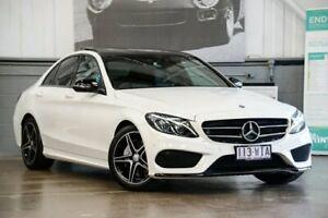 2016 Mercedes-Benz C200 W205 806+056MY 7G-Tronic + White 7 Speed Sports Automatic Sedan