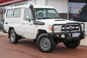 2013 Toyota Landcruiser VDJ78R MY13 GXL Troopcarrier White 5 Speed Manual Wagon