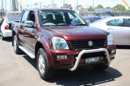 2003 Holden Rodeo RA LT Crew Cab Burgundy 4 Speed Automatic Utility Heatherton Kingston Area Preview