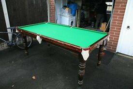Riley slate bed snooker table