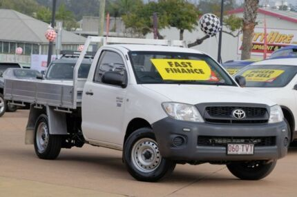 2010 Toyota Hilux TGN16R MY10 Workmate White 5 Speed Manual Cab Chassis