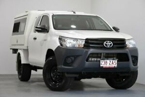 2016 Toyota Hilux GUN125R Workmate Extra Cab White 6 Speed Manual Cab Chassis Kedron Brisbane North East Preview