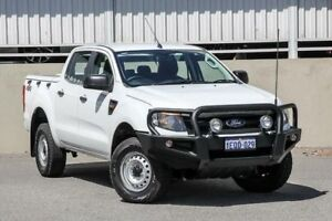 2014 Ford Ranger PX XL 3.2 (4x4) White 6 Speed Manual Dual Cab Utility Cannington Canning Area Preview