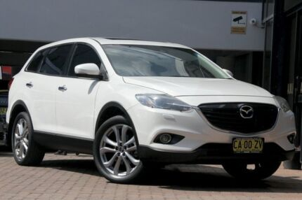 2013 Mazda CX-9 TB10A5 MY14 Grand Touring Activematic AWD White 6 Speed Sports Automatic Wagon