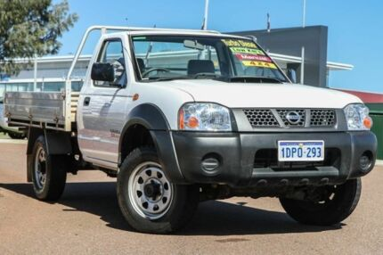 2011 Nissan Navara D22 S5 DX White 5 Speed Manual Cab Chassis
